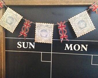 Mini Banner, Cake Bunting, Mini Bunting,Tea Party Decoration, British Theme, Union Jack Bunting, British East India Company, Tea Cake Banner
