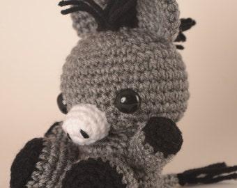 Dante the Donkey Crochet Toy Doll