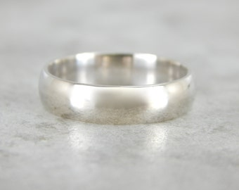 Plain White Gold Wedding Band 6FR4LP-R