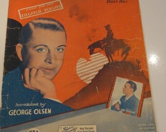 """Vintage Sheet Music  """"The Last Round-Up"""" by Billy Hill"""