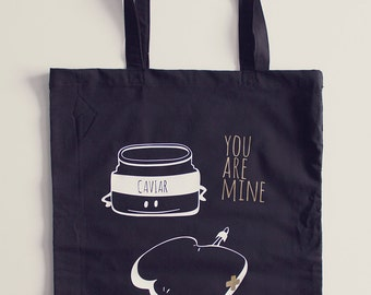 Tote Bag Caviar -  cotton - original illustration