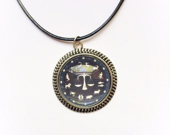 Libra Constellation Zodiac Necklace