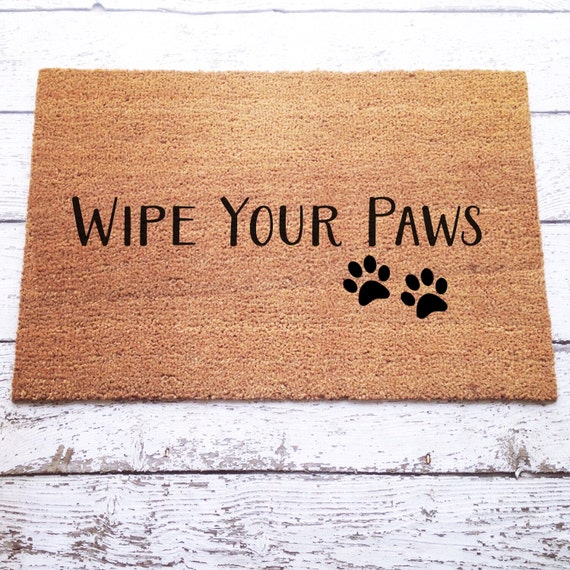Ready To Ship Wipe Your Paws Doormat Door Mat By Lorustique