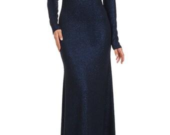 Navy Full Length Dress, Navy Full Length Formal, Navy Formal Dress, Blue Formal Dress, Navy Blue Formal, Navy Blue Maxi