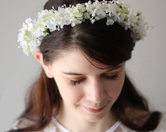 Rustic Woodland Wedding Floral Crown Bridal Headpiece Hair Wreath Accessory