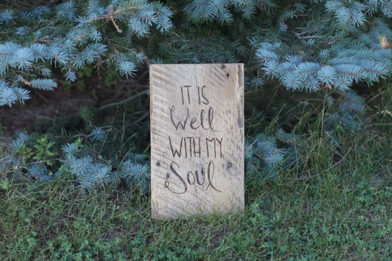 It Is Well With My Soul Picture Quotes: Barn Wood Sign It Is Well With My Soul Wall Art Hymn
