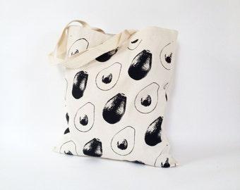 Avocados Tote Bag Canvas screen printed