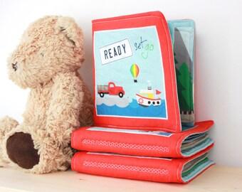 Fabric Quiet Book | Transportation Fabric Book | Baby Quiet Book