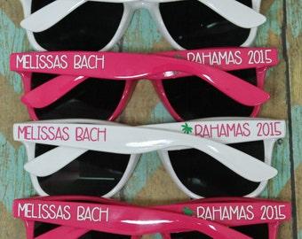 Personalized Sunglasses, Wedding Favor, Bachelorette Party Favors, Destination Wedding, Party Favors