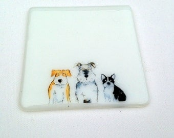Dog Coaster, Cute Gift for Dog Lover, Gift for Her, Gift for Him, Pooch Presents, New Home Housewarming Gift, Thank You, Colleague Birthday