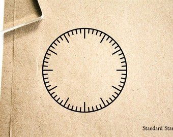 Clock Face Blank Rubber Stamp - 2 x 2 inches