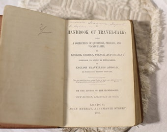 1868 Handbook of Travel-Talk