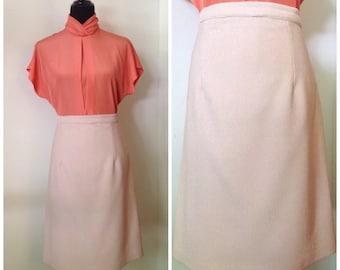 Vintage Pencil Skirt, Tan c1970s