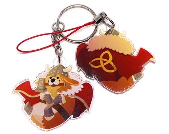Thorgi Keychain, Cute Corgi Keychain, kawaii Phone Charm, Thor, corgi charm, mjolnir, pembroke welsh corgi, cardigan welsh corgi, Thorgi