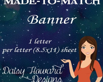 Printable Made to Match Banner