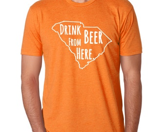 Clemson Tigers & Craft Beer- South Carolina Drink Beer From Here shirt