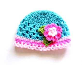 Baby Girl Hat Crochet Pattern, Crochet Girls Hat Pattern, Crochet Hat Pattern, Toddler Girl Hat Pattern, Newborn Hat Pattern, Newborn-Child