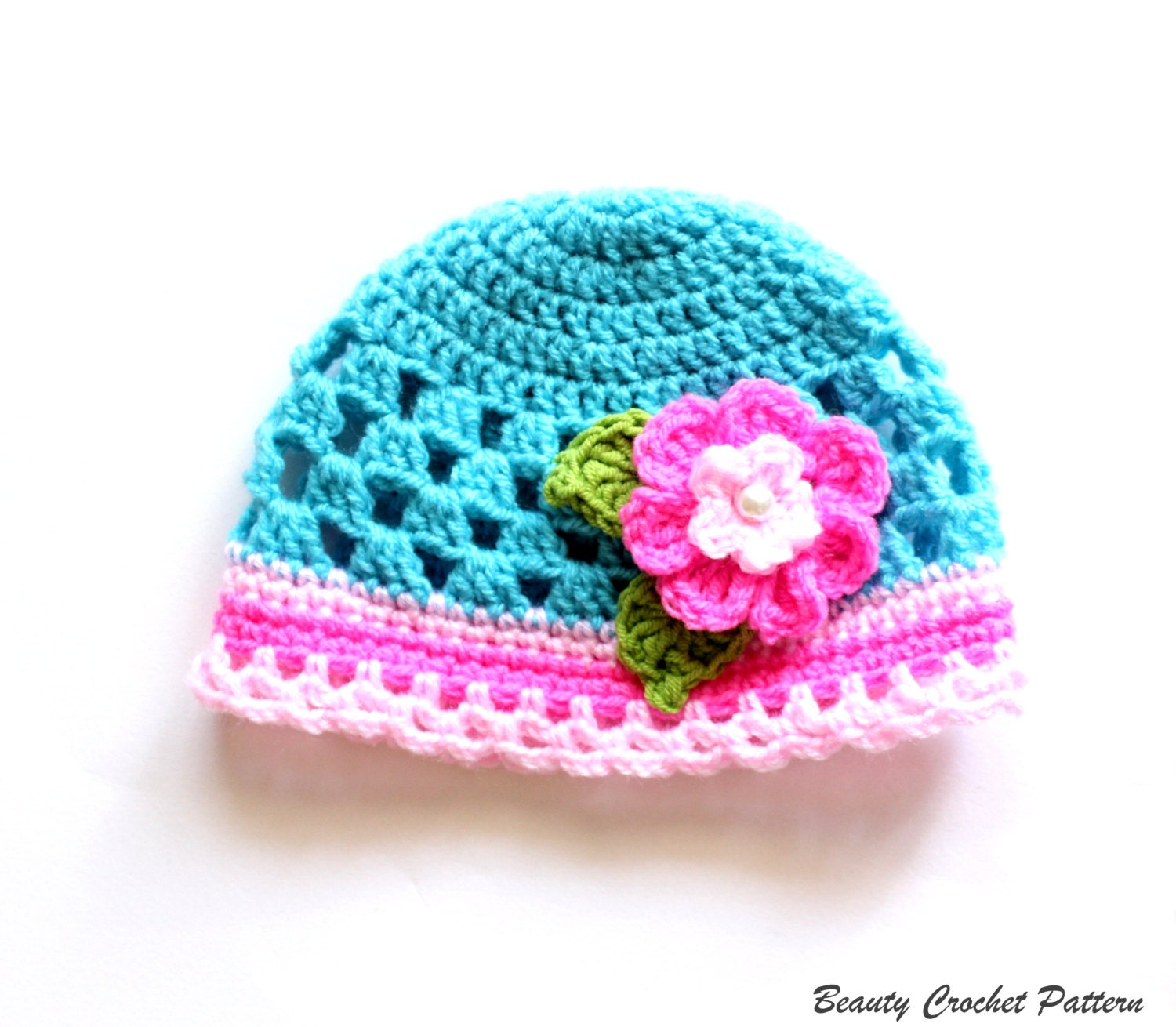 Crochet Pattern Newborn Girl Hat : Baby Girl Hat Crochet Pattern Crochet Girls Hat Pattern