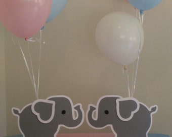 2 Elephant Balloon Holder Centerpieces Birthday Party Baby Shower