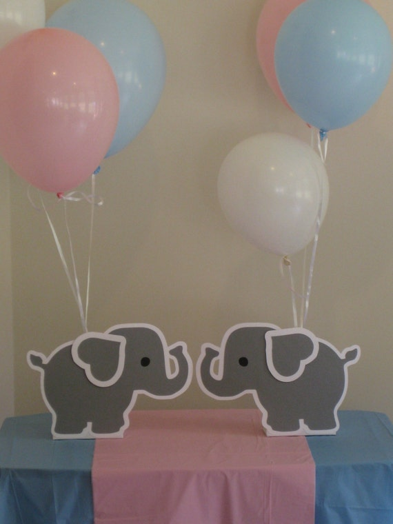 elephant balloon holder centerpieces birthday party baby shower