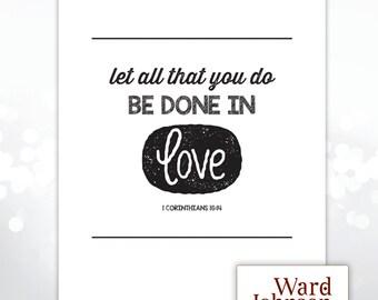 Digital File - 8x10 Wall Print, 1 Corinthians 16:14