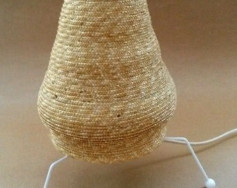 natural straw fire tube lamp