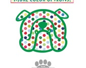 English bulldog decal - Bulldogs in polka dots! Vinyl decal car stickers with color options -  #bullylove