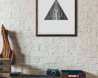 Downloadable City Art Print - City Wall Art - Geometric Art Print - Geometric Design - Triangle Art Print - Office Decor
