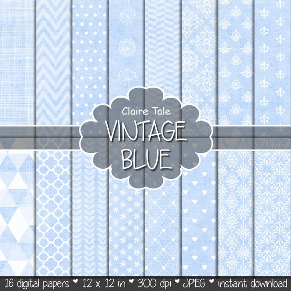 Light blue digital paper, Baby blue scrapbooking paper, Pale blue printable paper, Blue printable invitation background, Baby blue pattern