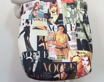 Magazine Tote Bag, Canvas Tote Bag, Beach Magazine Bag, Shoulder Bag, Printed Market Bag, Boho Shopping Bag, Women's Gift