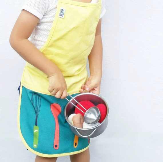 cute kids cooking apron