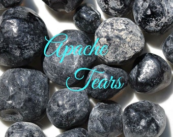 Three APACHE TEAR Stones for Grief, Grounding and Psychic Protection