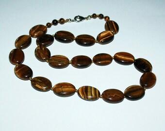 Tiger eye oval beads.