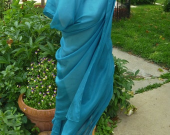Belly Dance Veil Teal Bellydance veil