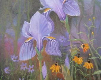 Iris, original oil painting, 16x20