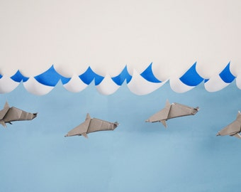 Hand Crafted Paper Dolphin Photograph Scene