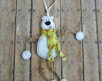 Polar Bear Ornament- Mr. Polar Bear