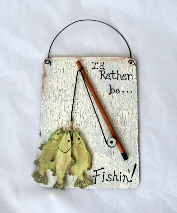 Fishing wall hanging gifts for men gifts for by for Fishing gifts for him