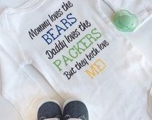 House Divided Baby Bodysuit - Perfect for NFL, MLB, NHL and college sports fans