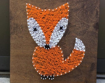 MADE TO ORDER Fox String Art, Nursery Decor, Baby Shower Gift, Woodland Creature Art, Whimsical Art Decor