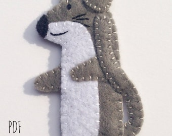 Mouse Finger Puppet PDF Sewing Pattern