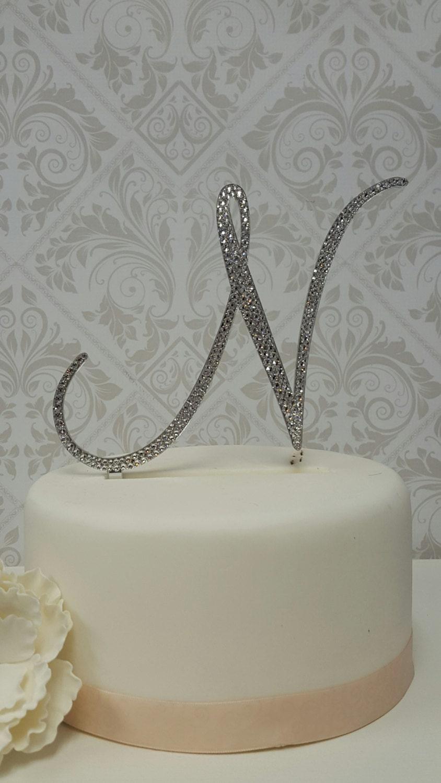 6 Inch Tall Monogram Wedding Cake Topper Elegant Fonts