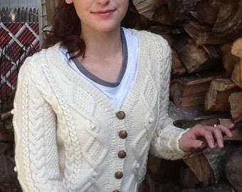 Ladies Irish Knit Cardigan
