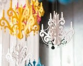 Small Chandelier with Jewels - Elegant Black Home & Party Decor