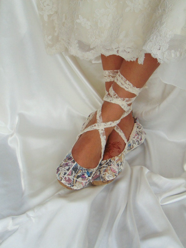 Wedding comic book shoes dc comic lace wedding flat shoes for What kind of shoes to wear with wedding dress