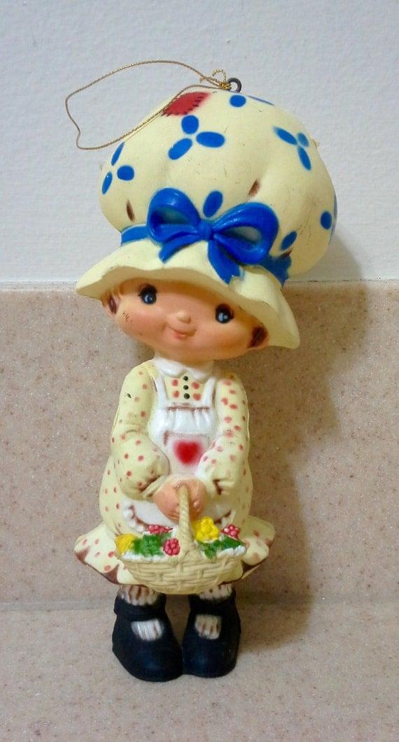 1980 39 S Little Girl Christmas Ornament Plastic Ornament