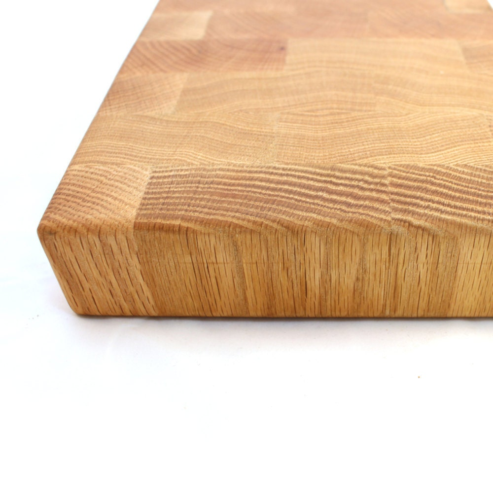 Block Board Solid Wood Board ~ Oak endgrain cutting board butcher block chopping