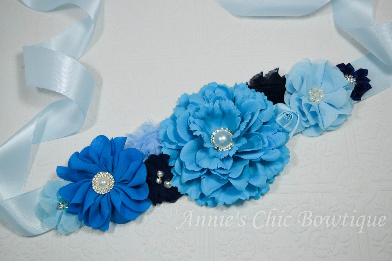 blue maternity sash baby shower sash maternity sash belt
