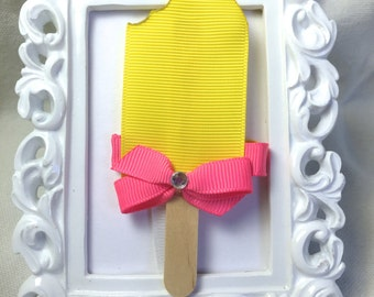 Yellow Popsicle Hair Clip