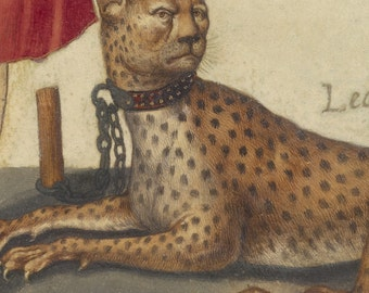 Archer with Cheetah, Italian Renaissance Painting Print